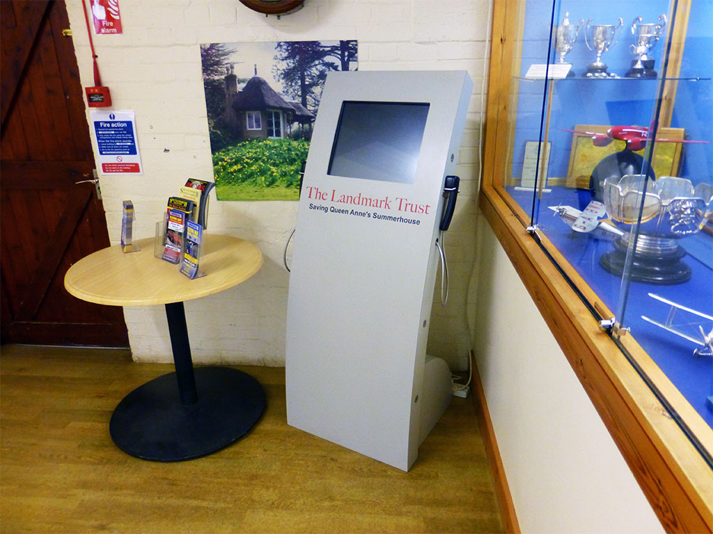 Apollo Curve kiosk located at The Landmark Trust