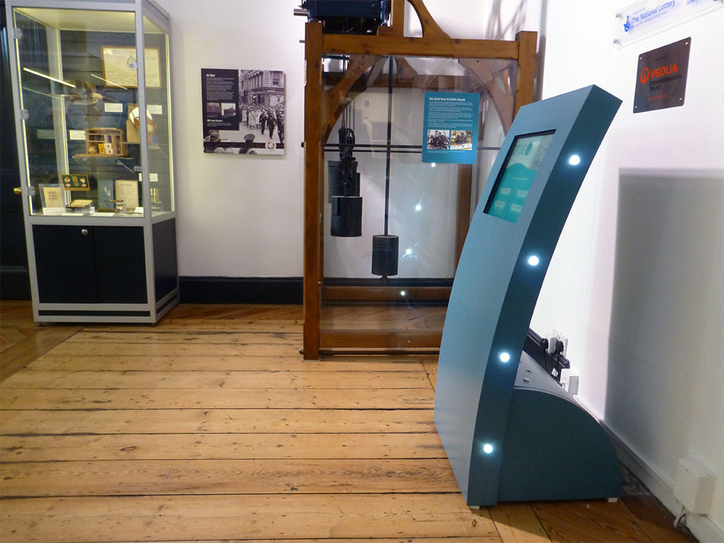 Apollo Curve touch screen kiosk located at The Spring Museum