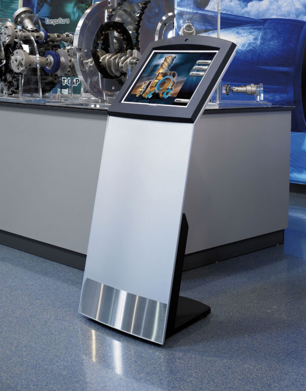 The Orbit Basic touch screen kiosk is perfect for use in museums and art galleries