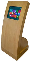 Apollo Curve Touch Screen Kiosk in Oak