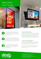 Galaxy Slimline Digital Sign Brochure