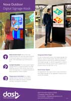 Nova Outdoor Freestanding Digital Sign Brochure