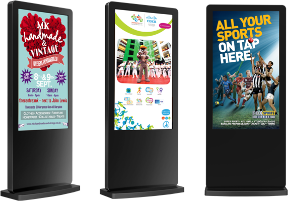 Nova Outdoor Freestanding Digital Signs for all your advertising requirements