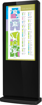 Nova outdoor freestanding digital sign for store directories