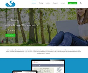 Book of Remembrance software homepage